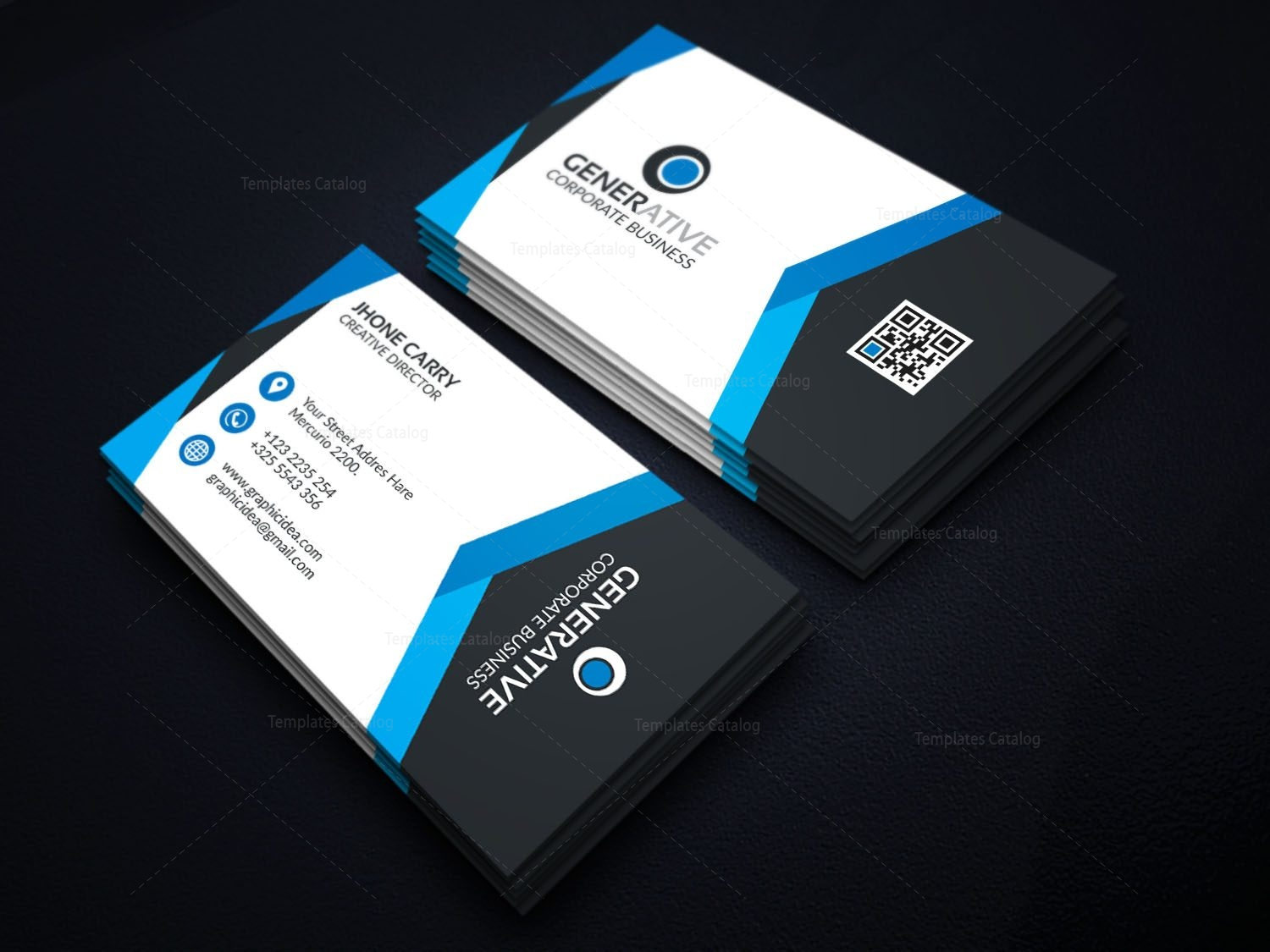 eps modern business card design template 001595 template