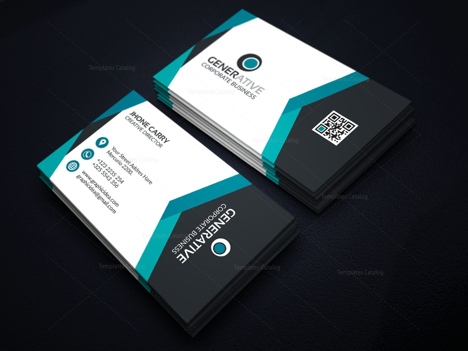 Eps modern business card design template 001595 template catalog eps modern business card design template 4 flashek Images