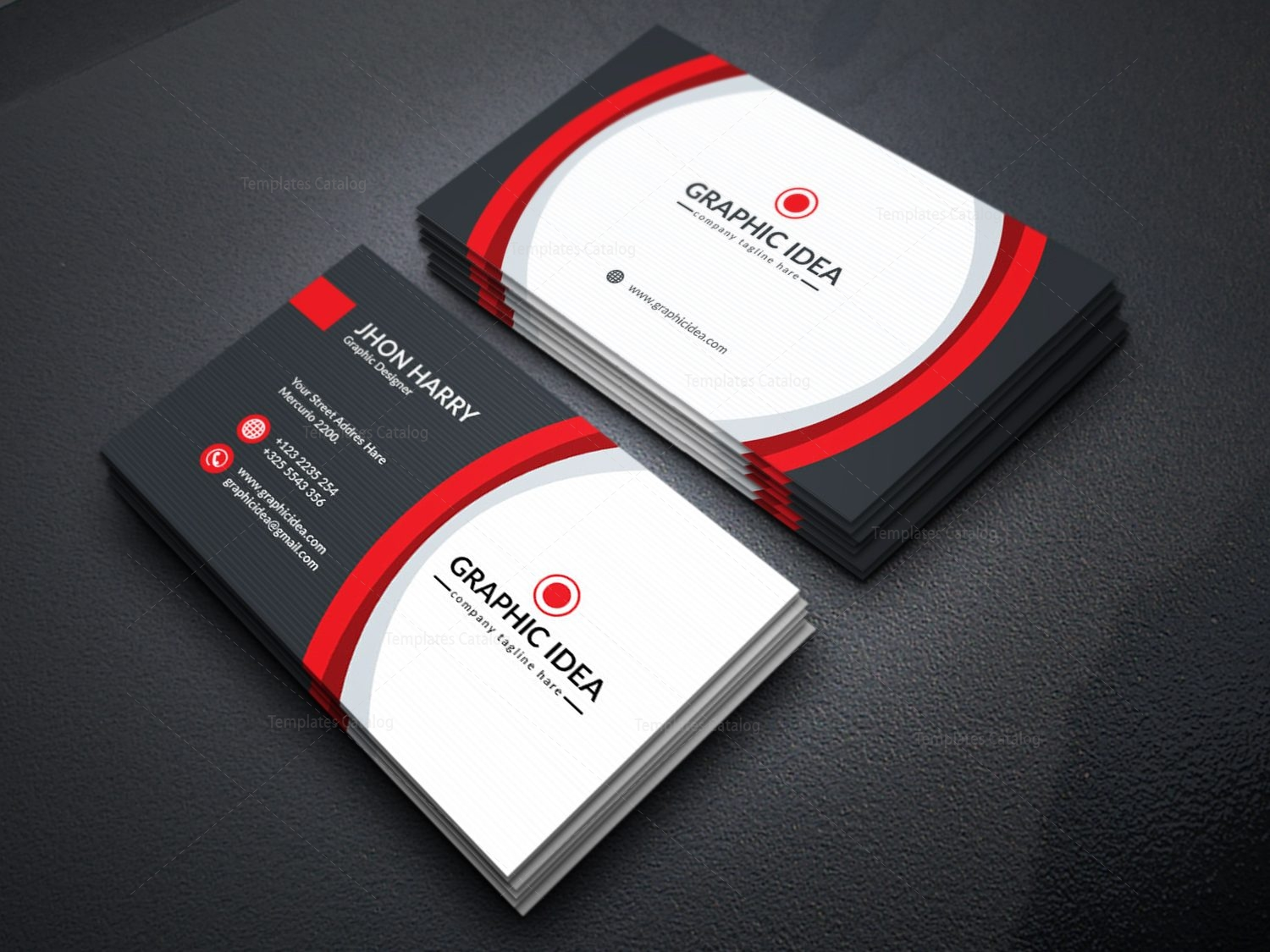 eps premium business card design template 001597