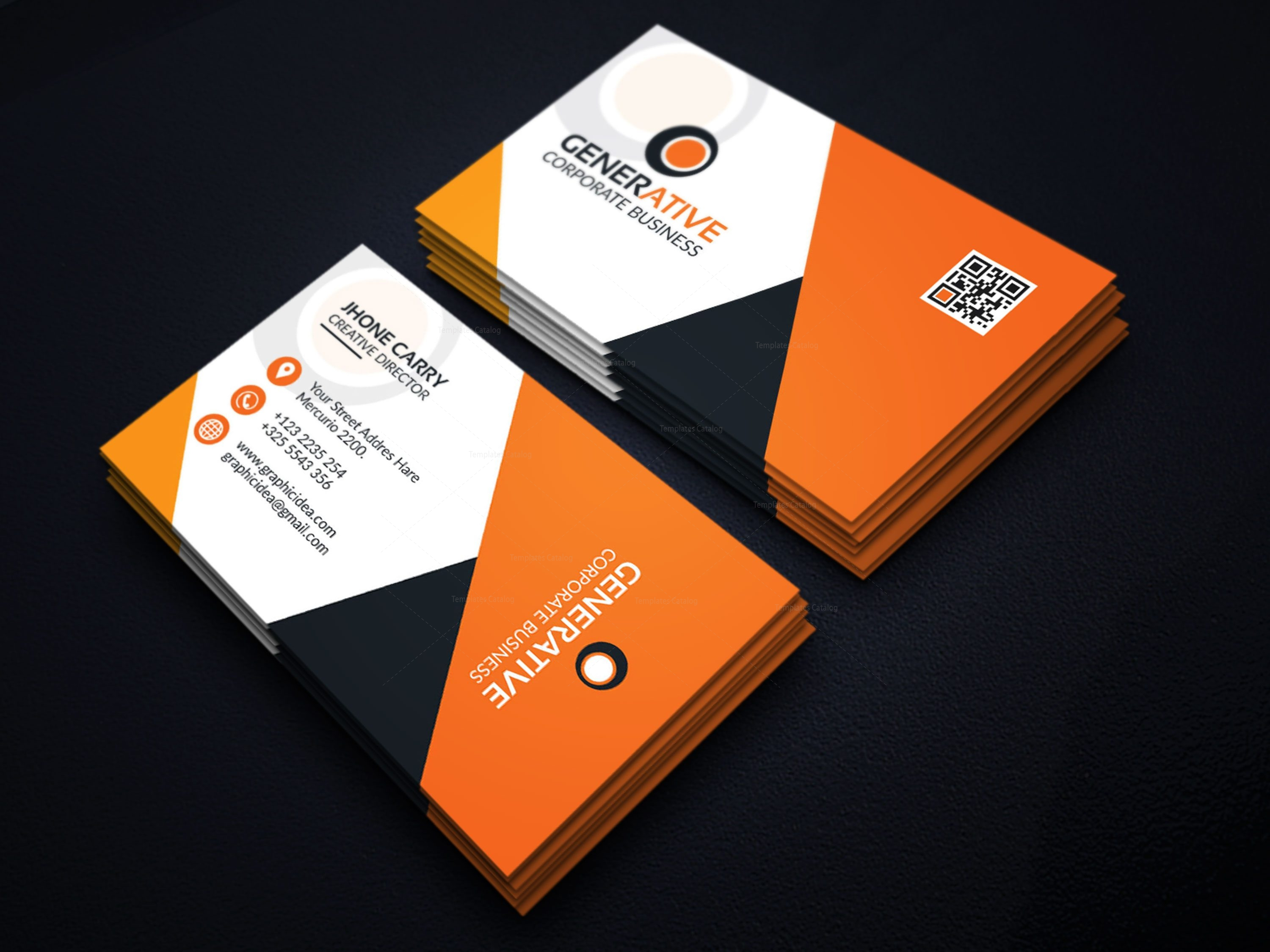 Eps sleek business card design template 001599 template catalog eps sleek business card design template 1 flashek Images