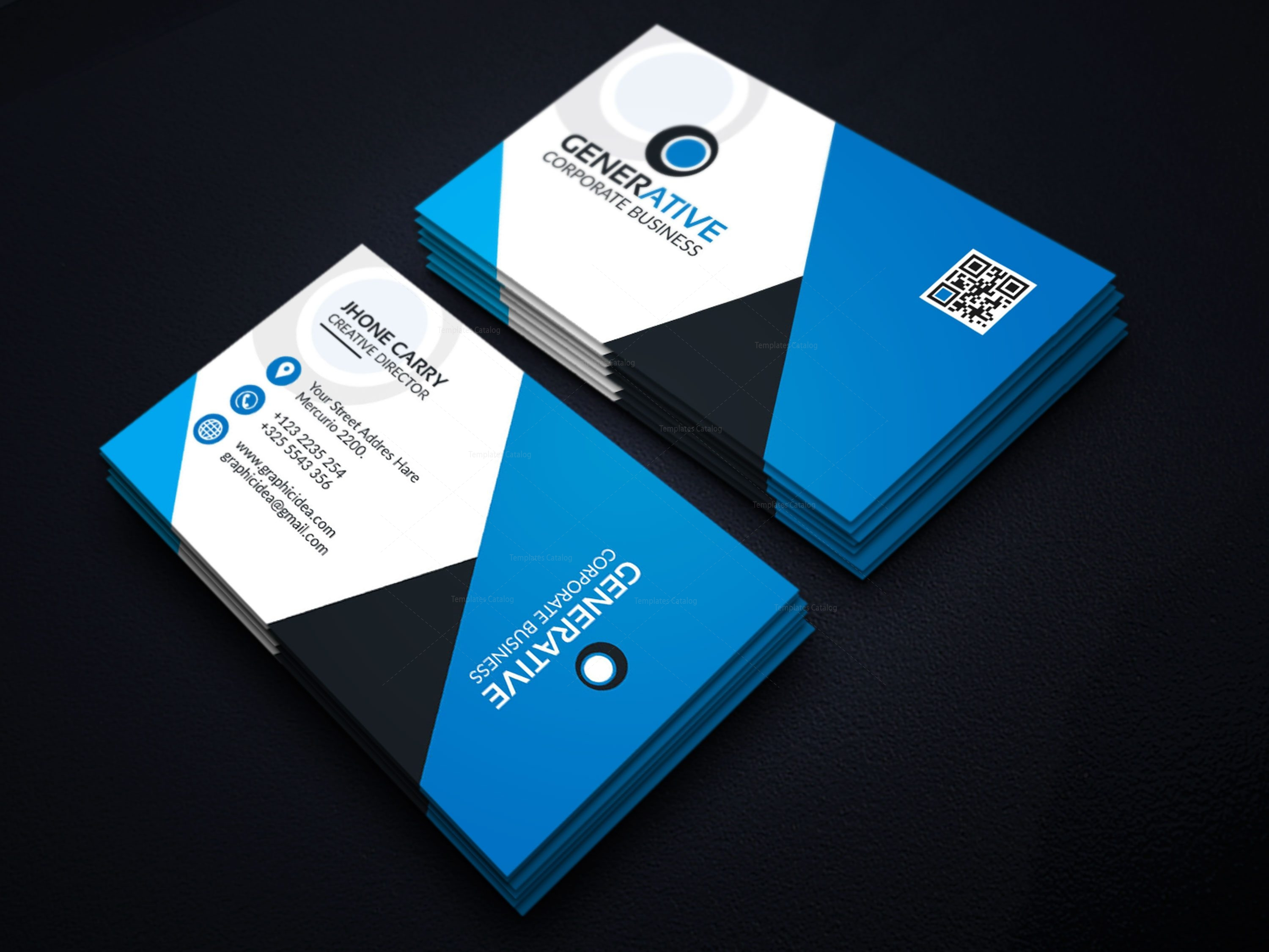 Eps sleek business card design template 001599 template catalog eps sleek business card design template 2 wajeb Image collections