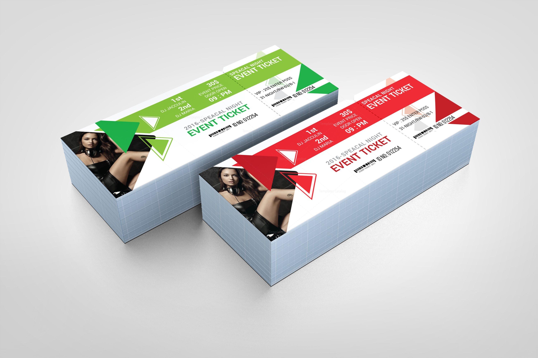 Ticket Design Template | Elegant Event Ticket Design Template 001611 Template Catalog