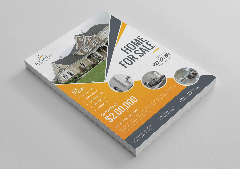 excellent real estate flyer design template 001521