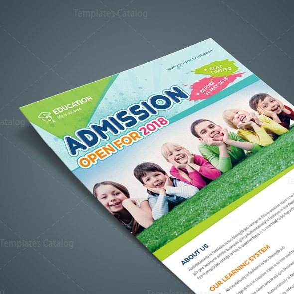 Excellent School Flyer Design Template