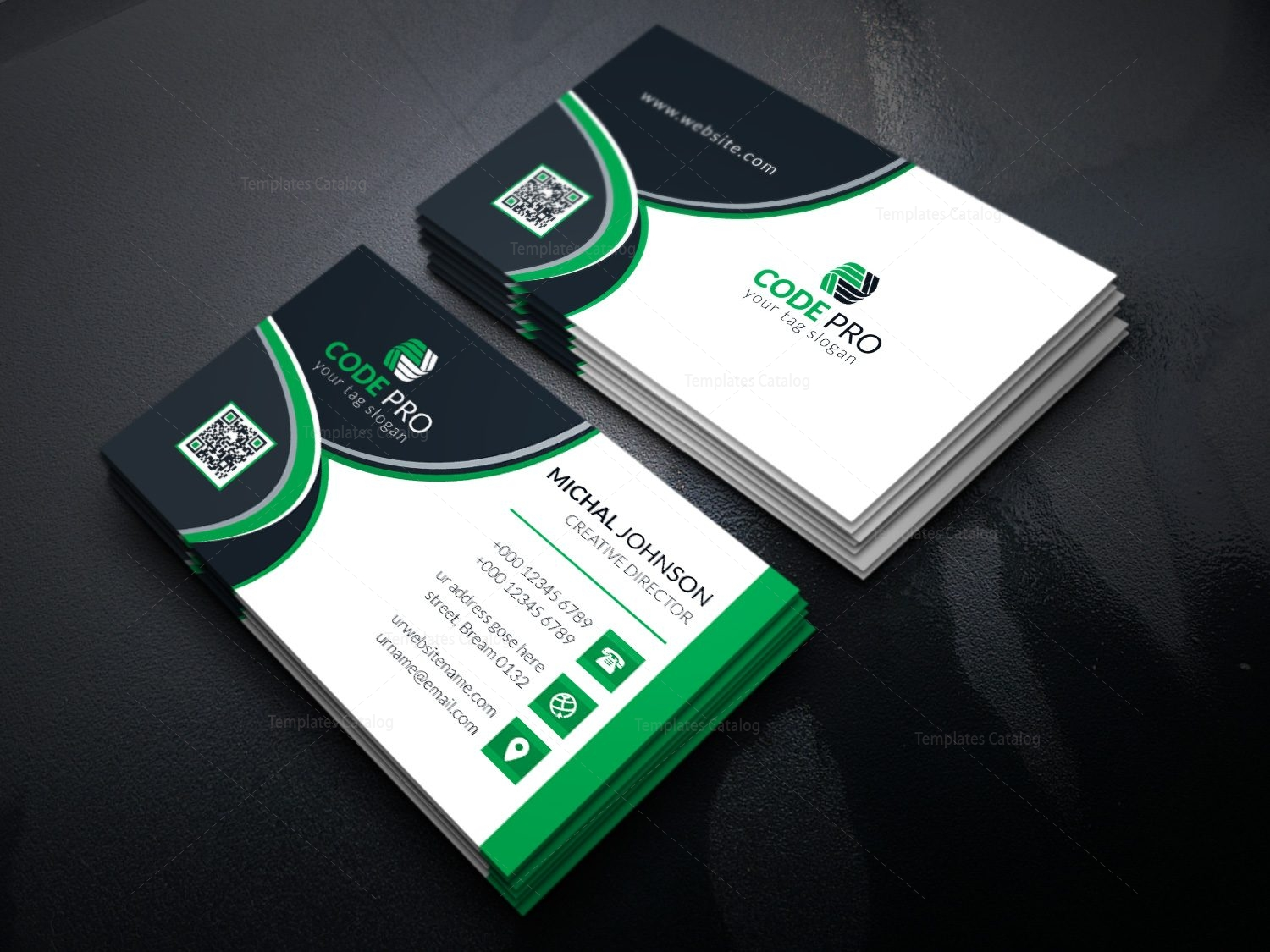 fancy business card design template in eps format - Fancy Business Cards