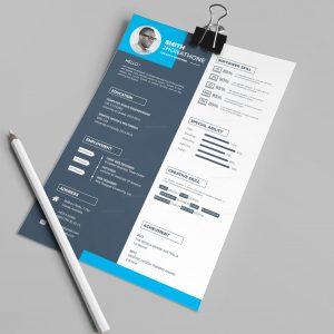 Hades Elegant Professional Resume Design Template