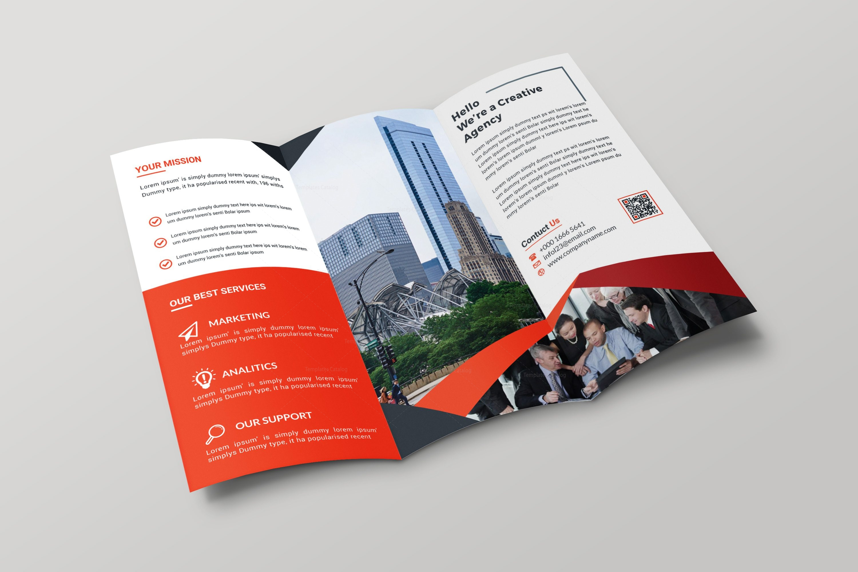 Hamburg Professional Tri Fold Brochure Design Template