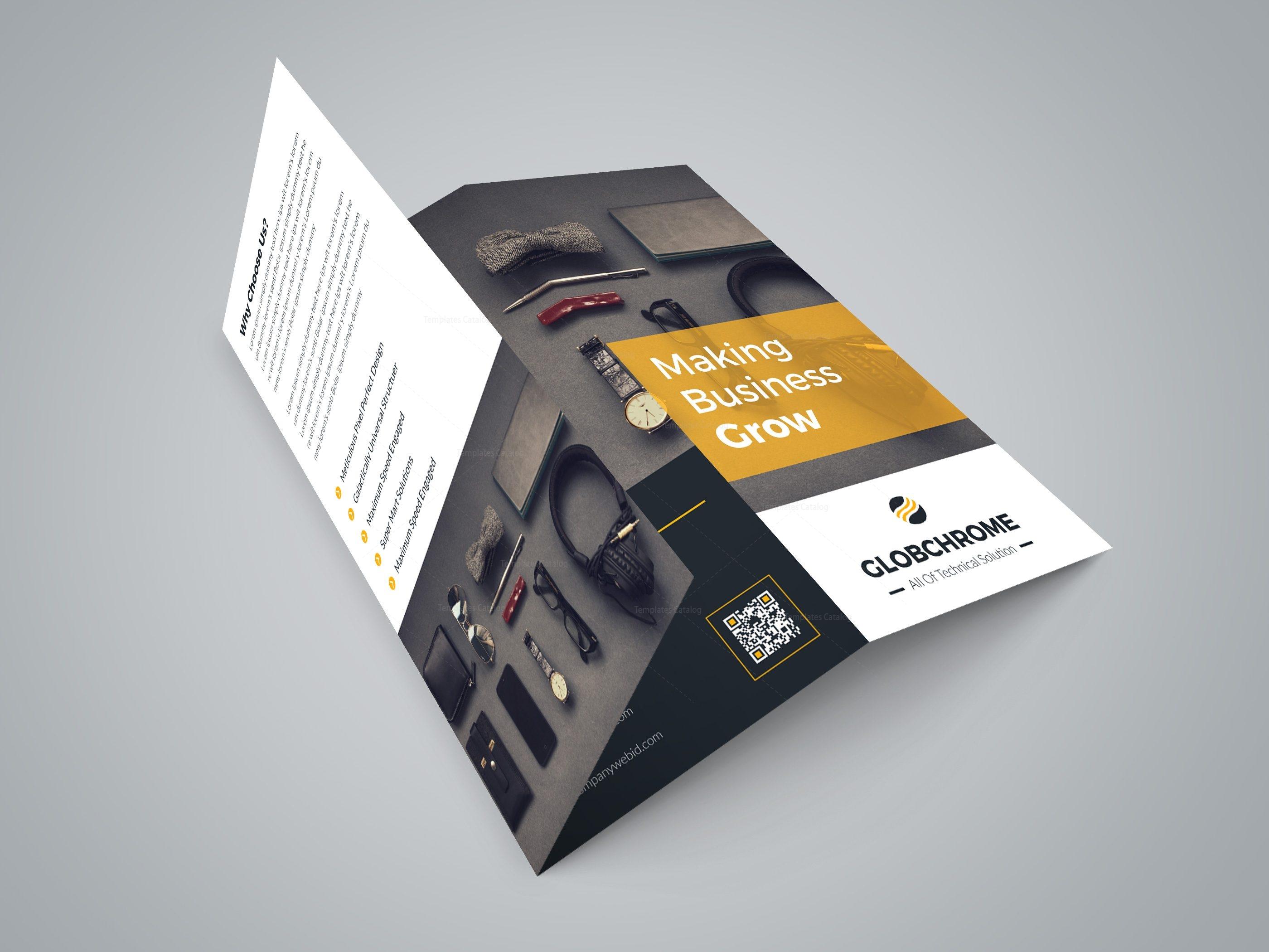 helsinki professional tri fold brochure design template 3