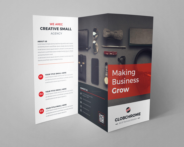 professional brochure design templates - helsinki professional tri fold brochure design template