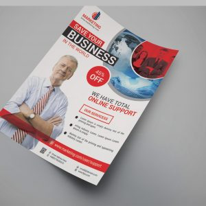 Hollywood Modern Business Flyer Design Template