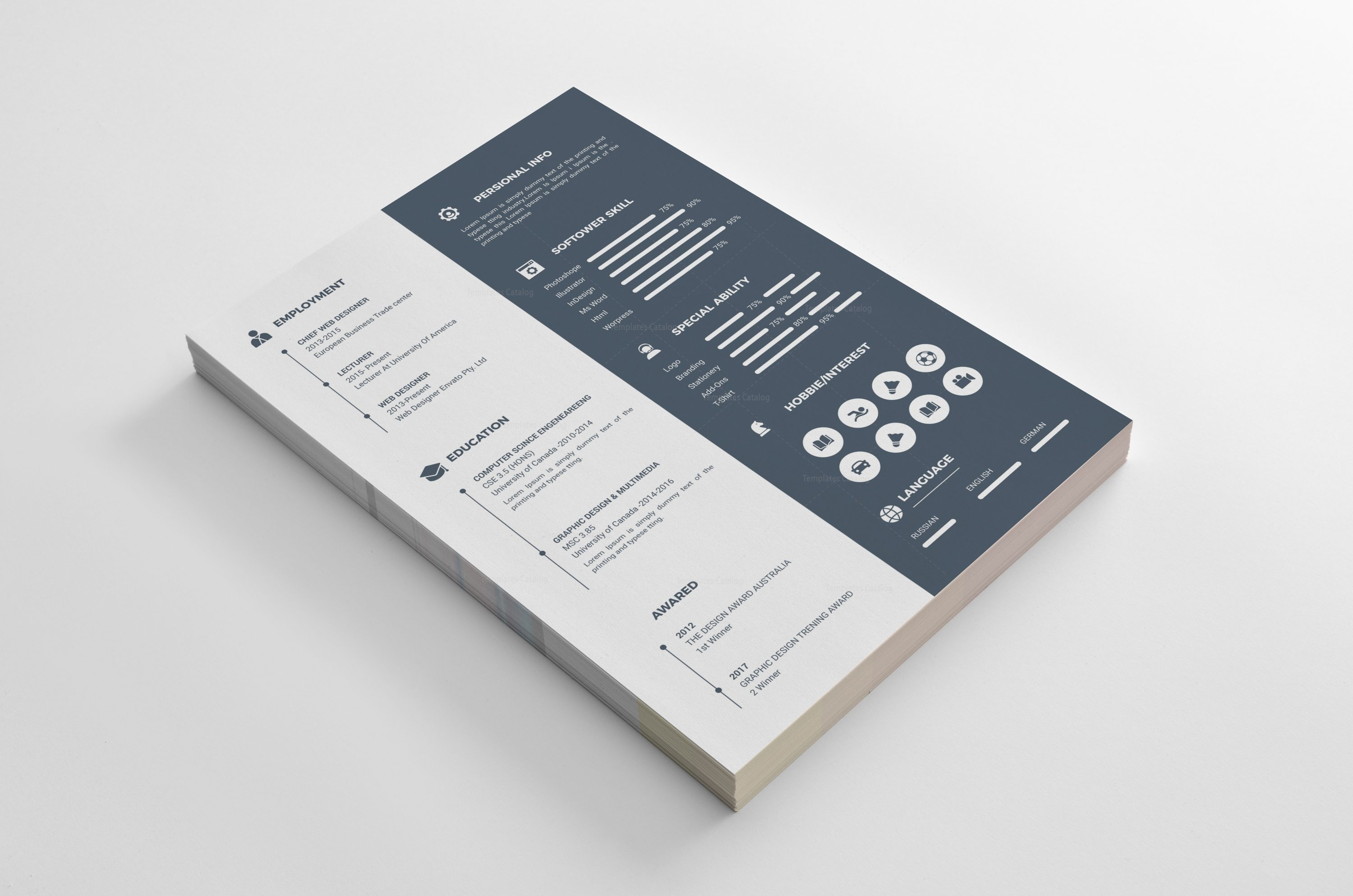 Houston Professional Resume Design Template   Template Catalog