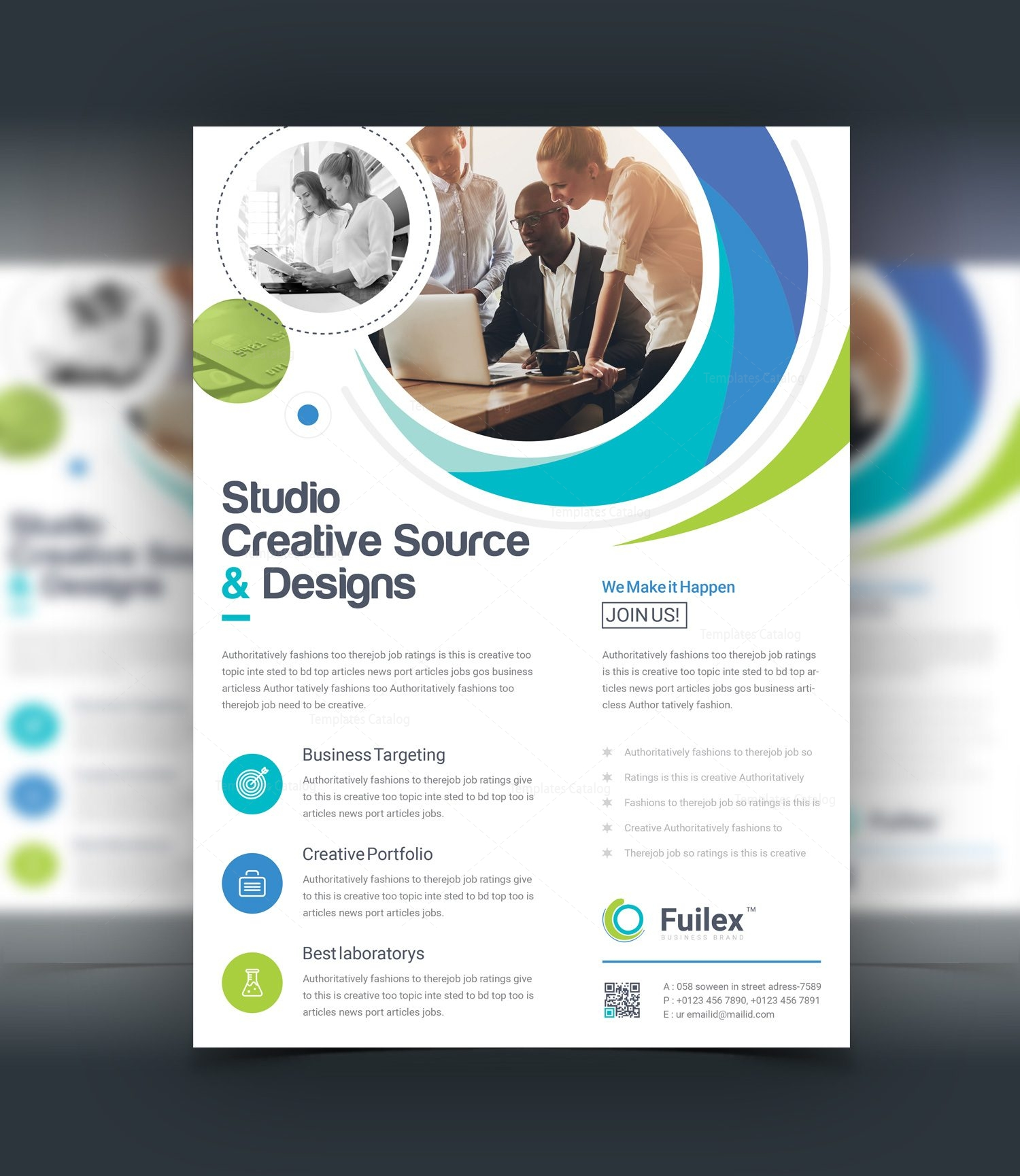 hypnosis creative business flyer design template 001528 template
