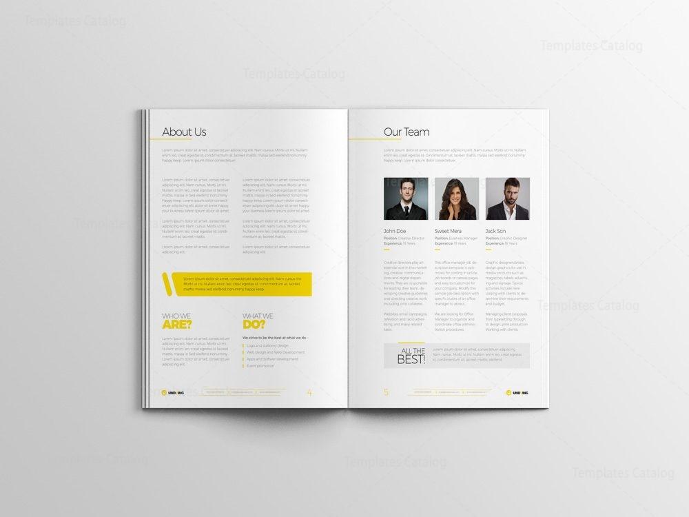 indd elegant business bi fold brochure design template 001584
