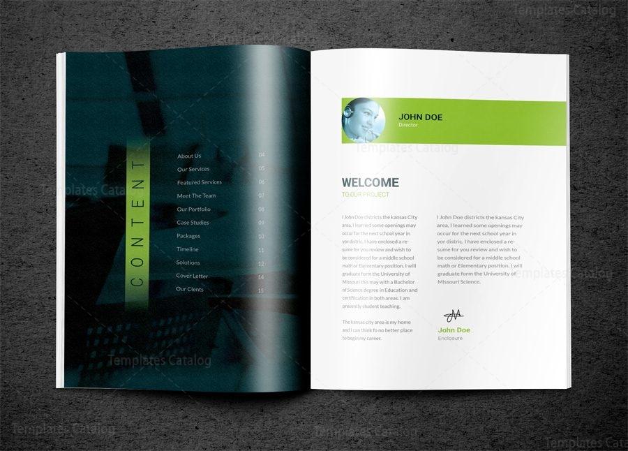 Indd Premium Business Bi Fold Brochure Template 001583 Template
