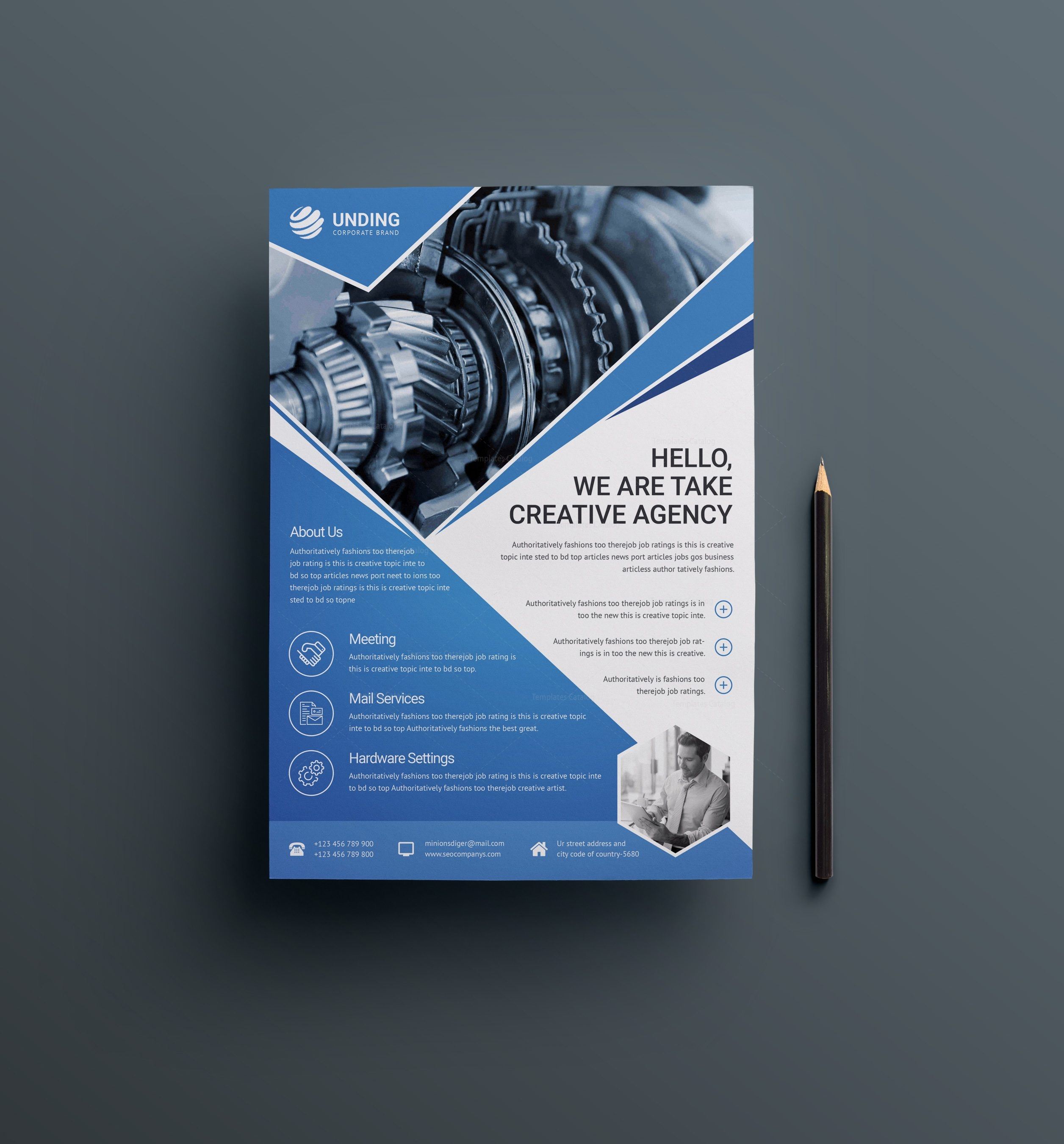 industry professional business flyer design template