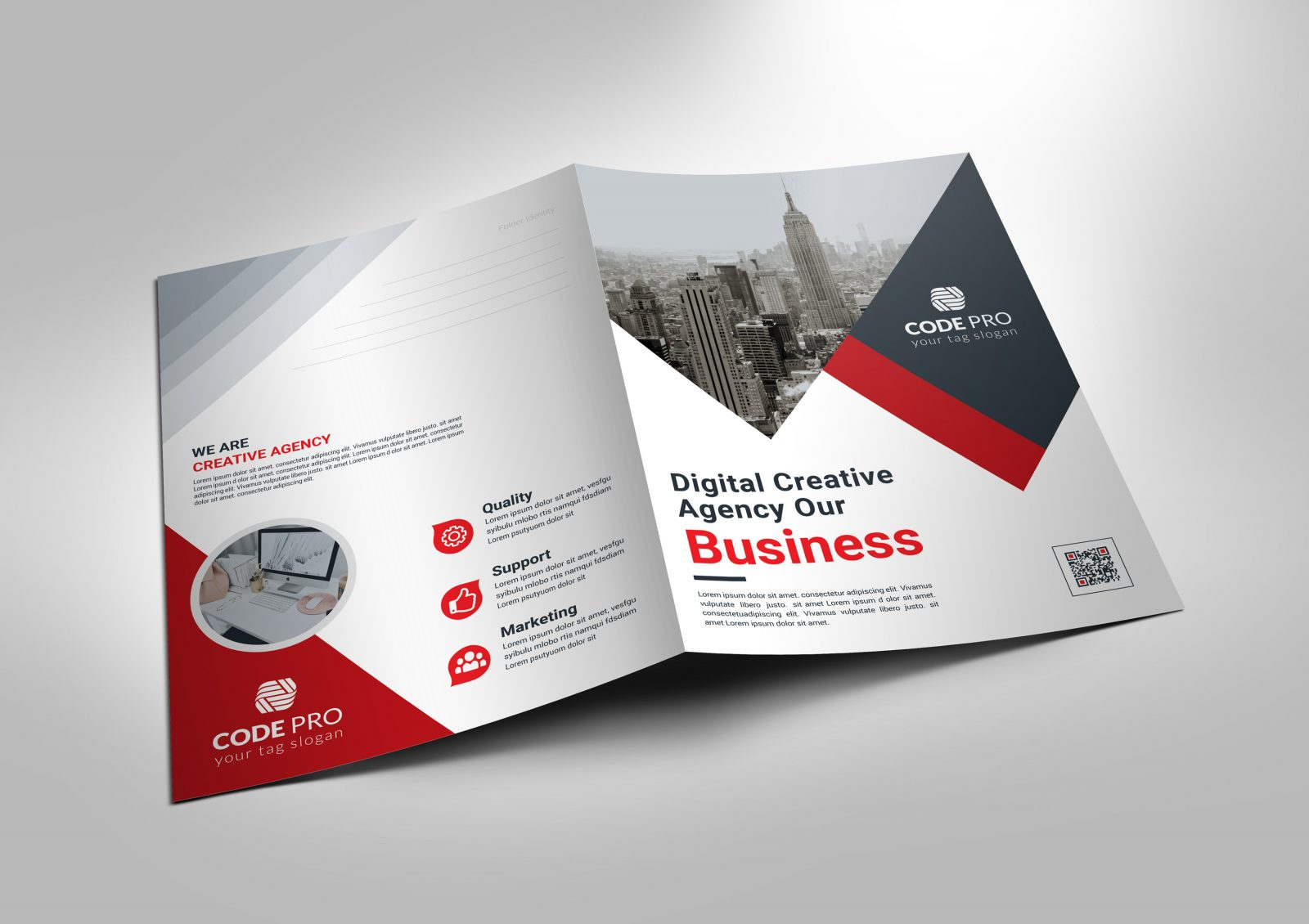 london corporate presentation folder template 001676
