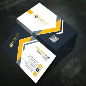 Modern Business Card Design Template in EPS Format