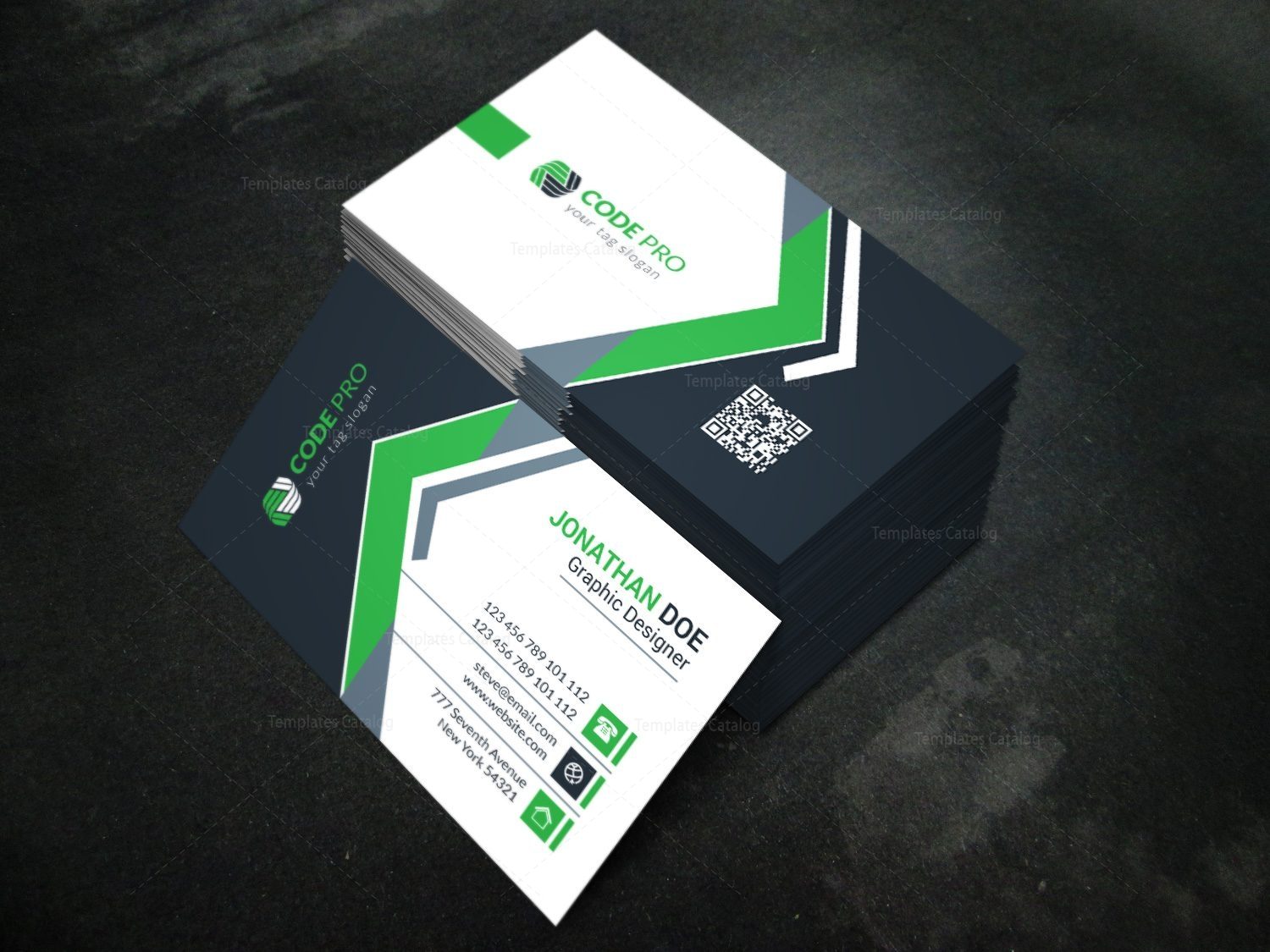 Modern business card design template in eps format 001623 template modern business card design template in eps format 4 fbccfo