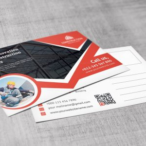 Modern Construction Corporate Postcard Template