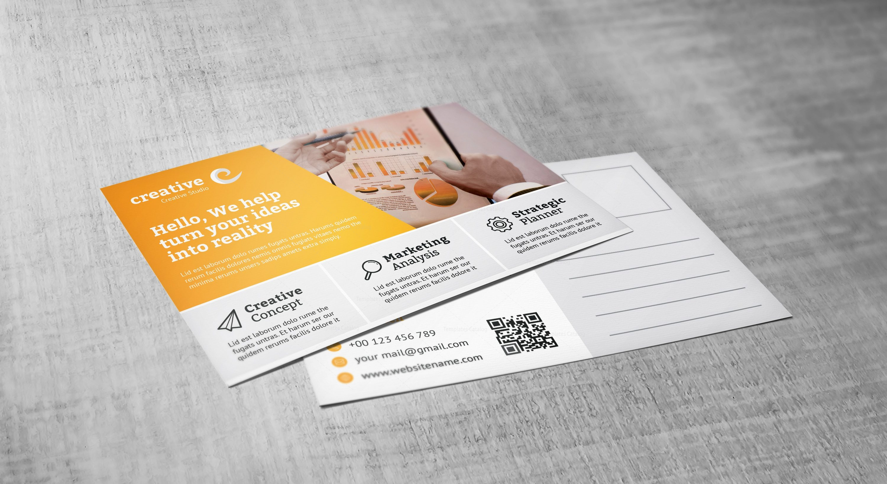 Modern Creative Corporate Postcard Template 001558 - Template Catalog