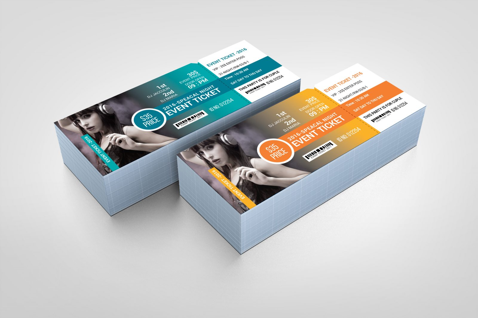 modern event ticket design template 001610