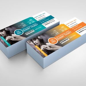 Modern Event Ticket Design Template