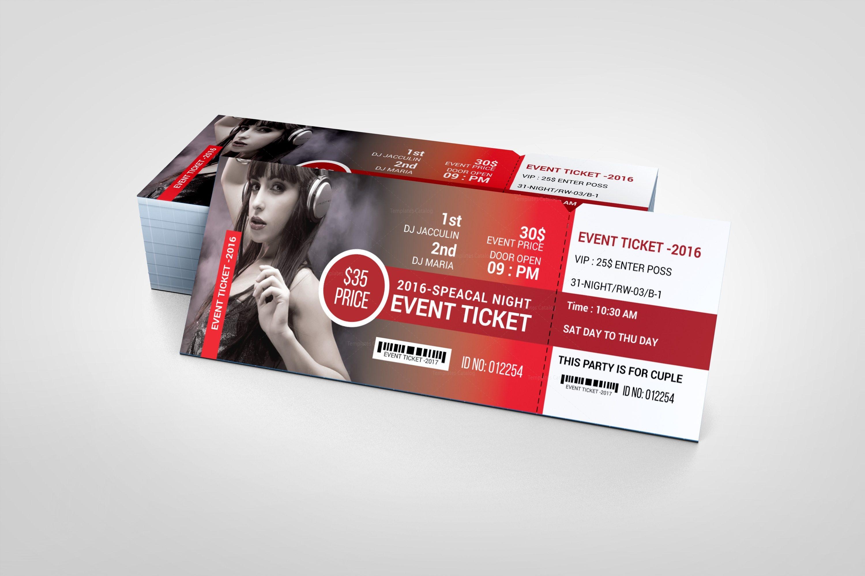 modern event ticket design template 001610