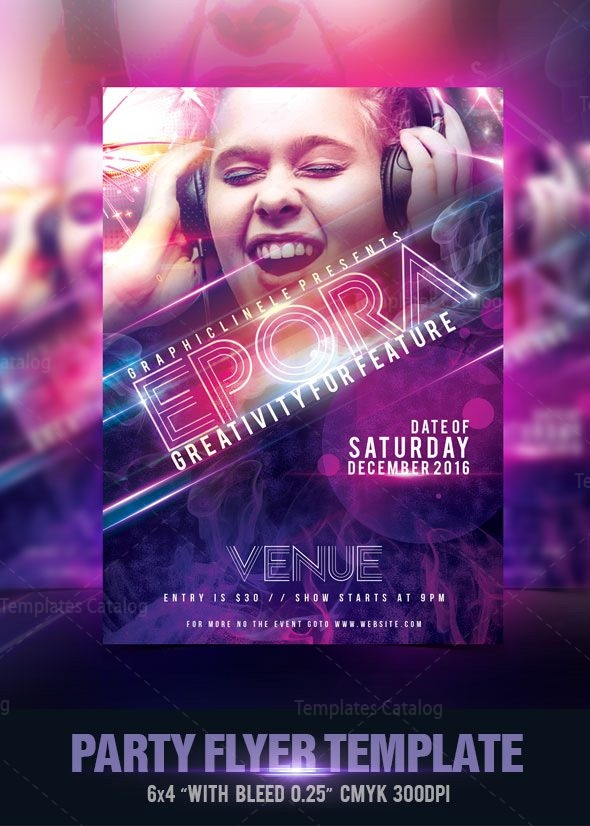 Modern Party Flyer Design Template 001538 Template Catalog