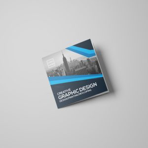 Modern Square Tri-Fold Brochure Design Template