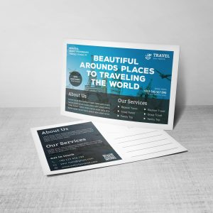 Modern Travel Postcard Design Template