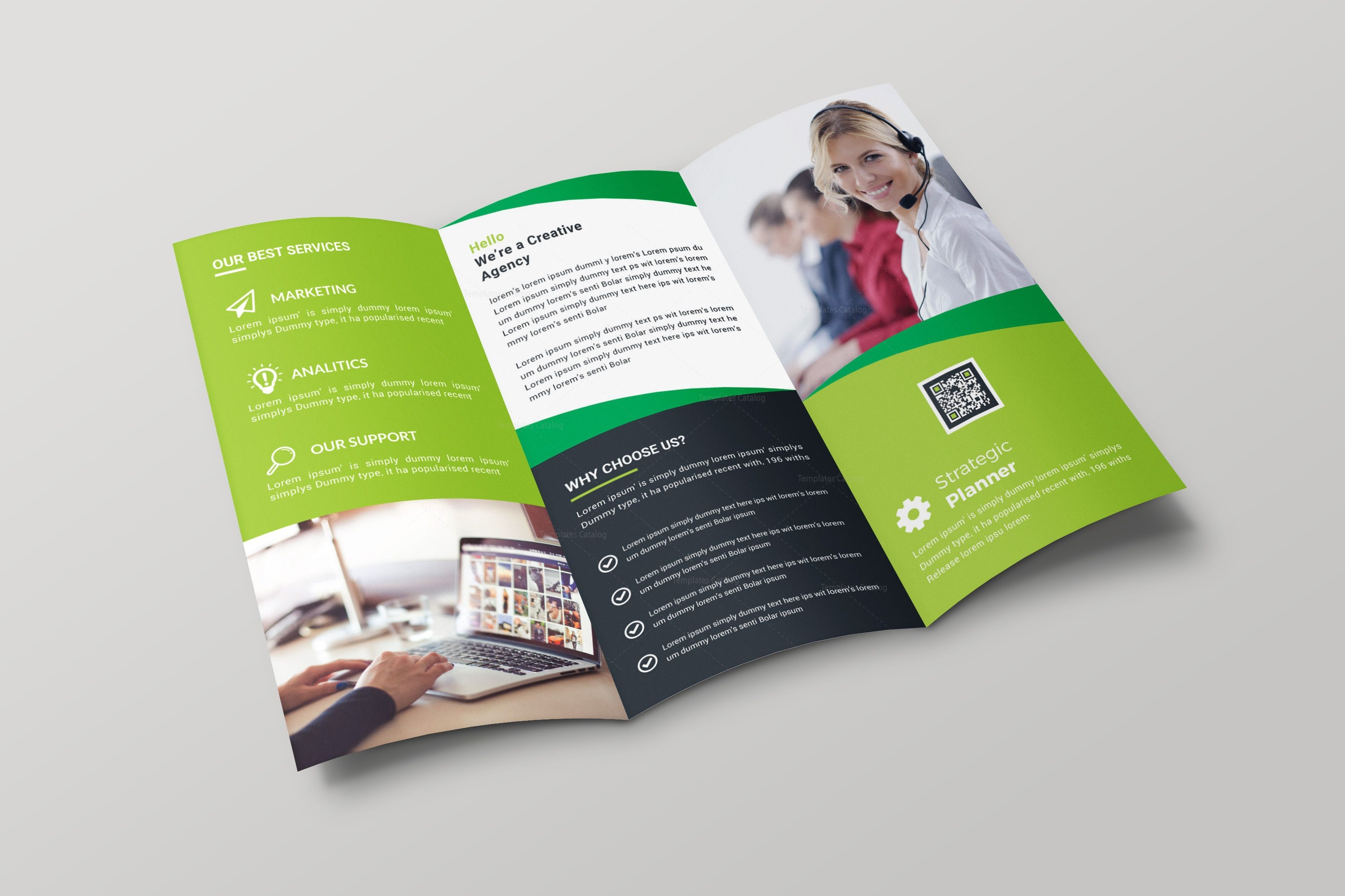 nevada creative tri fold brochure design template 001700 template
