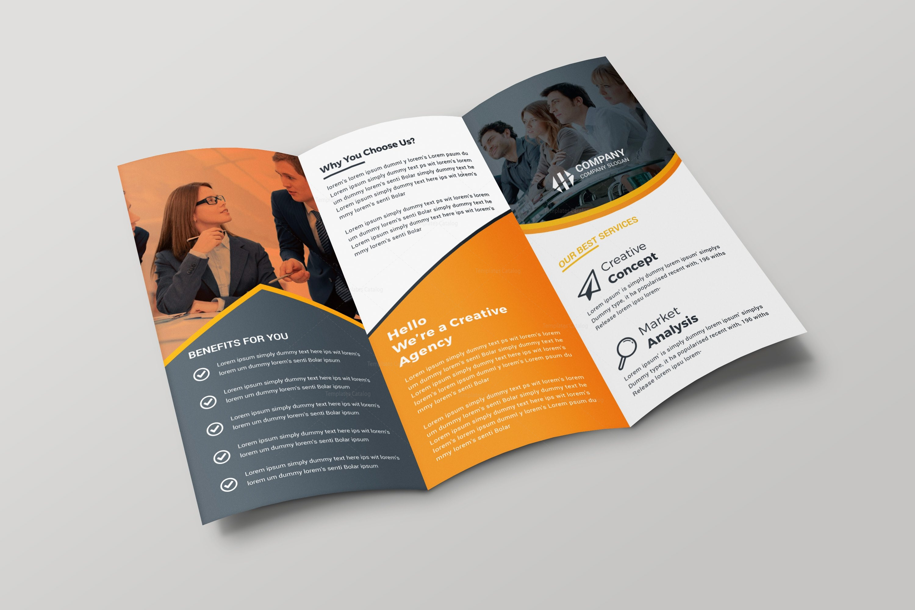 paris creative tri fold brochure design template 001699 template