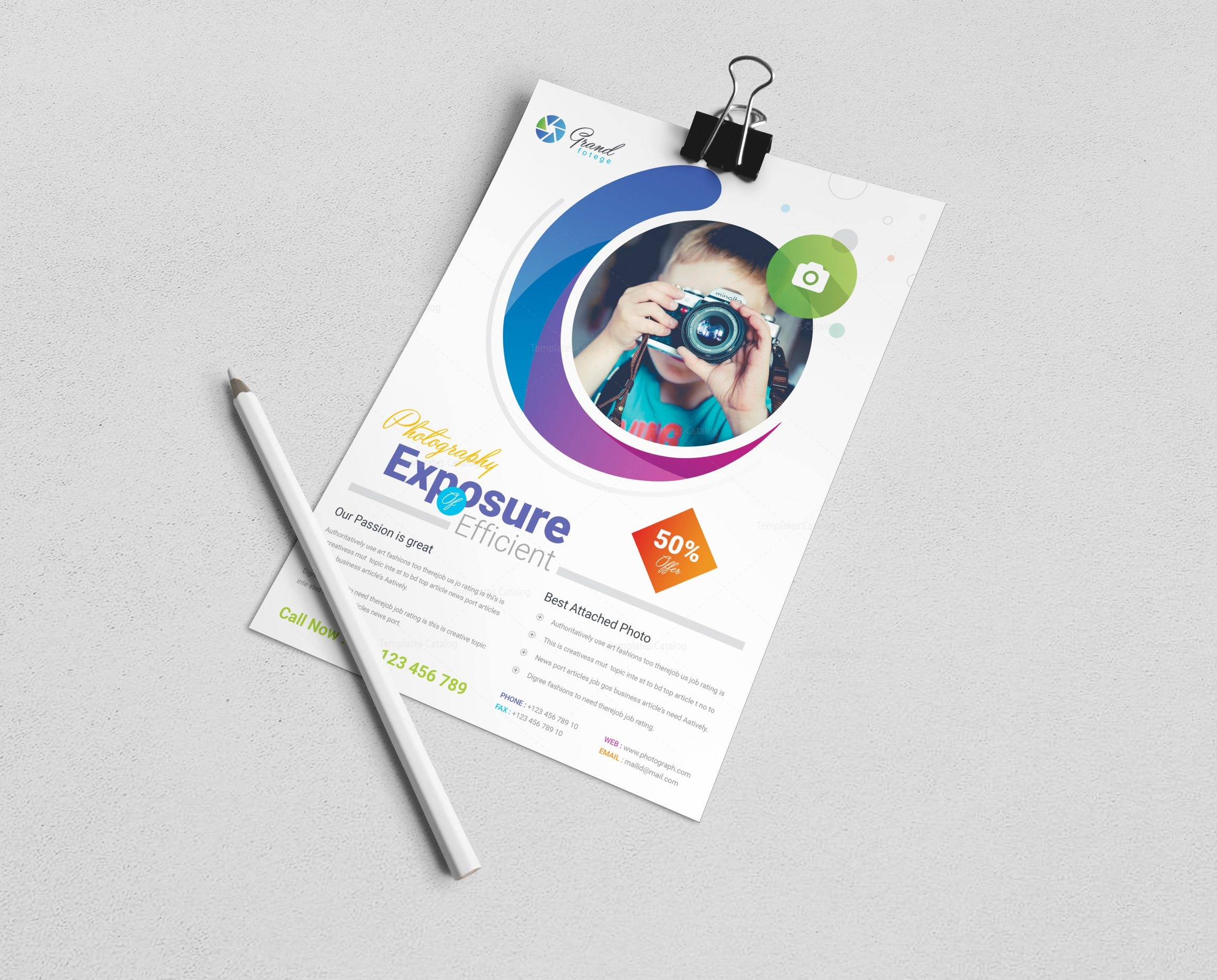 photography business flyer design template 001532 template catalog