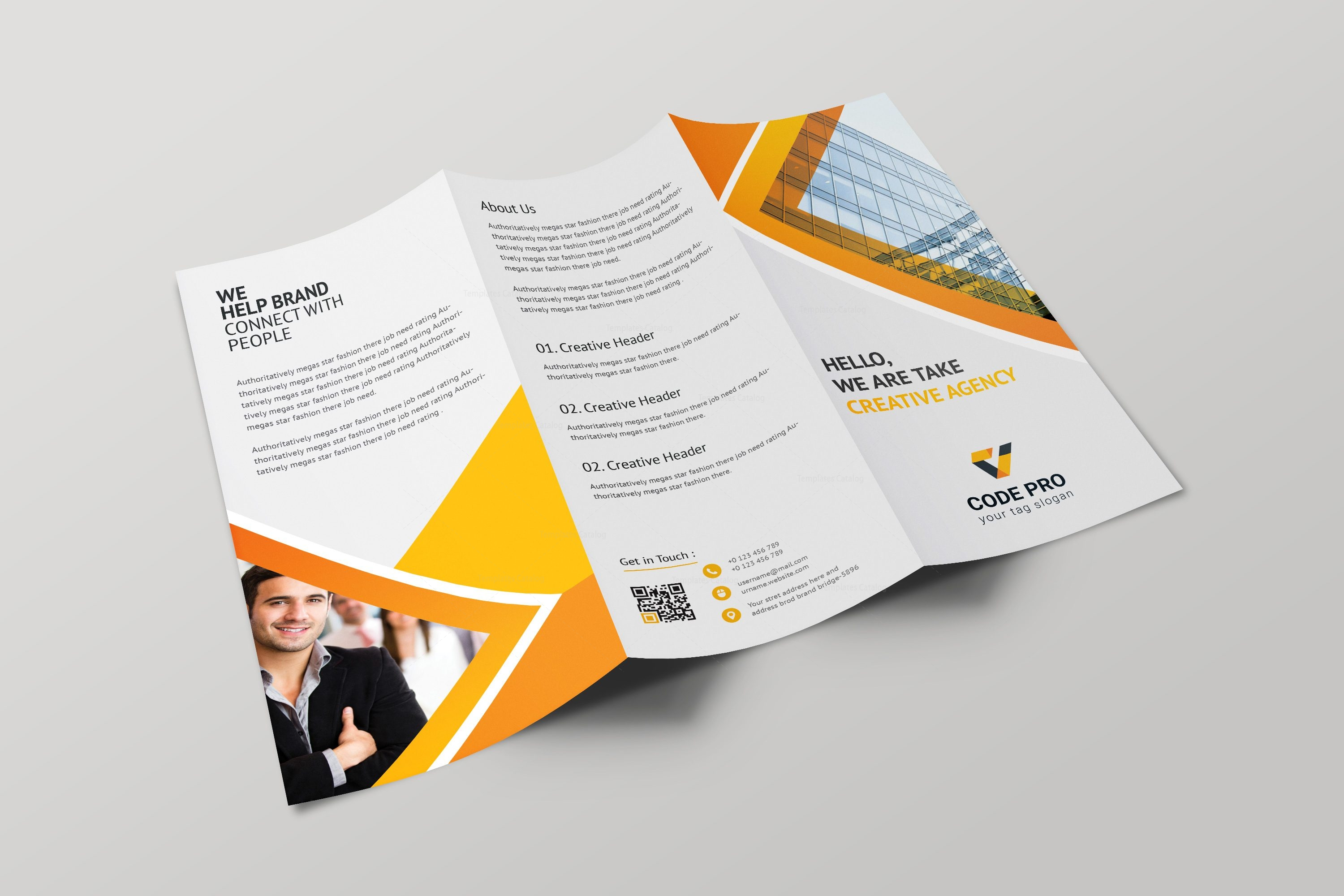 Prague professional tri fold brochure design template for Professional brochure design templates