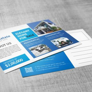 Premium Creative Real Estate Postcard Design Template
