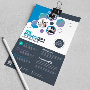 Queen Stylish Business Flyer Design Template