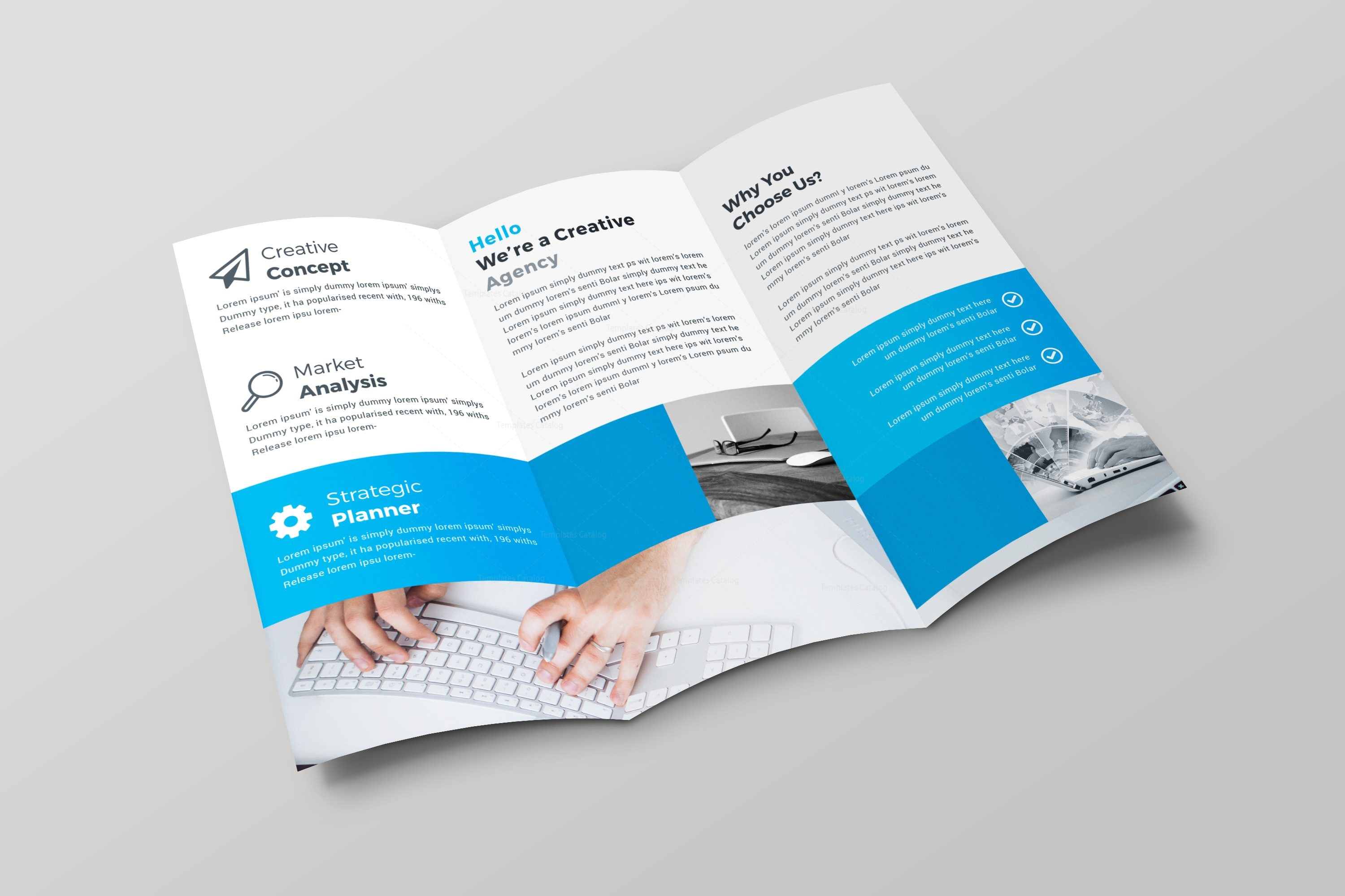 professional brochure design templates - riga professional tri fold brochure design template 001693