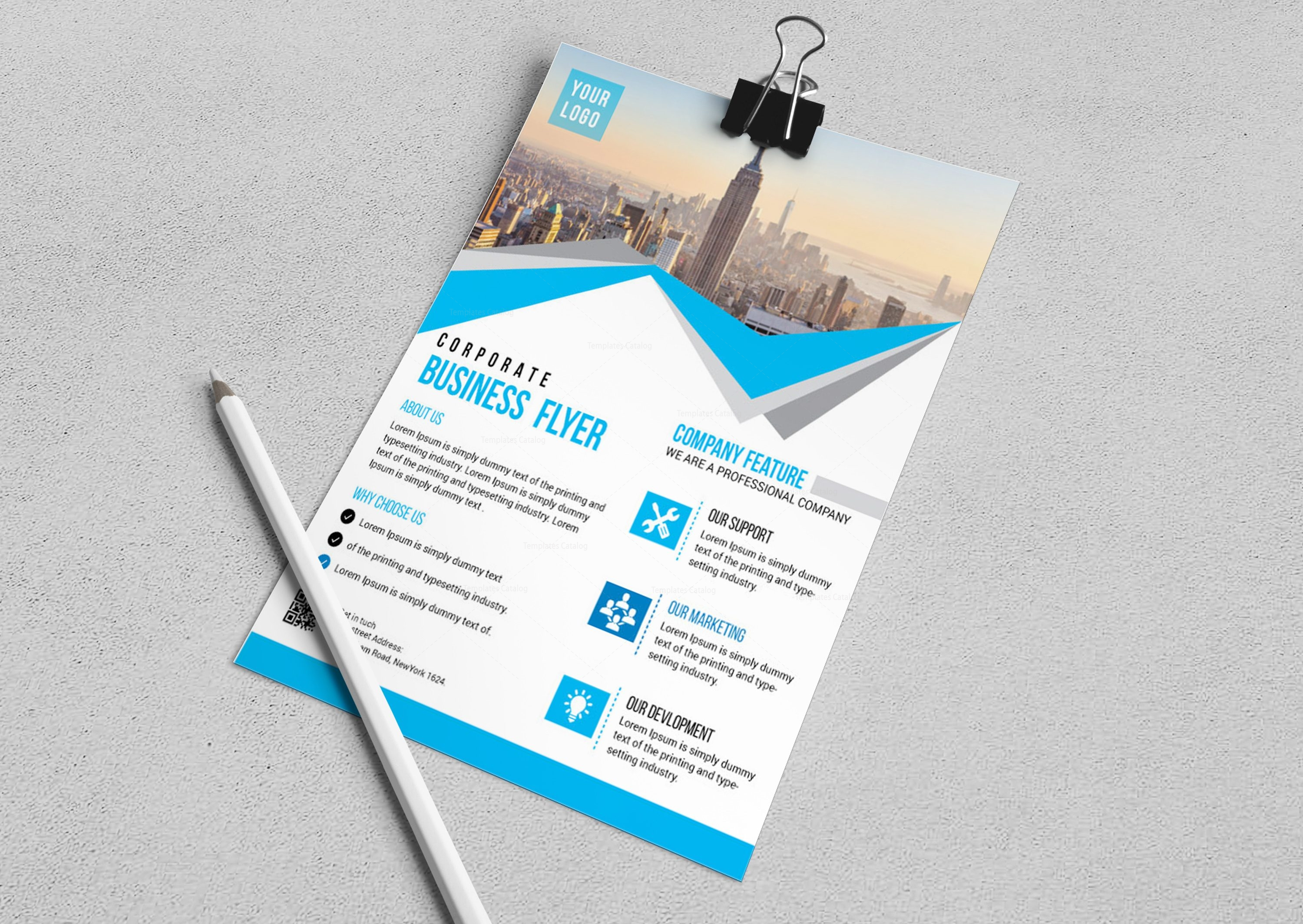 Riverside modern business flyer design template 001683 template riverside modern business flyer design template accmission Choice Image