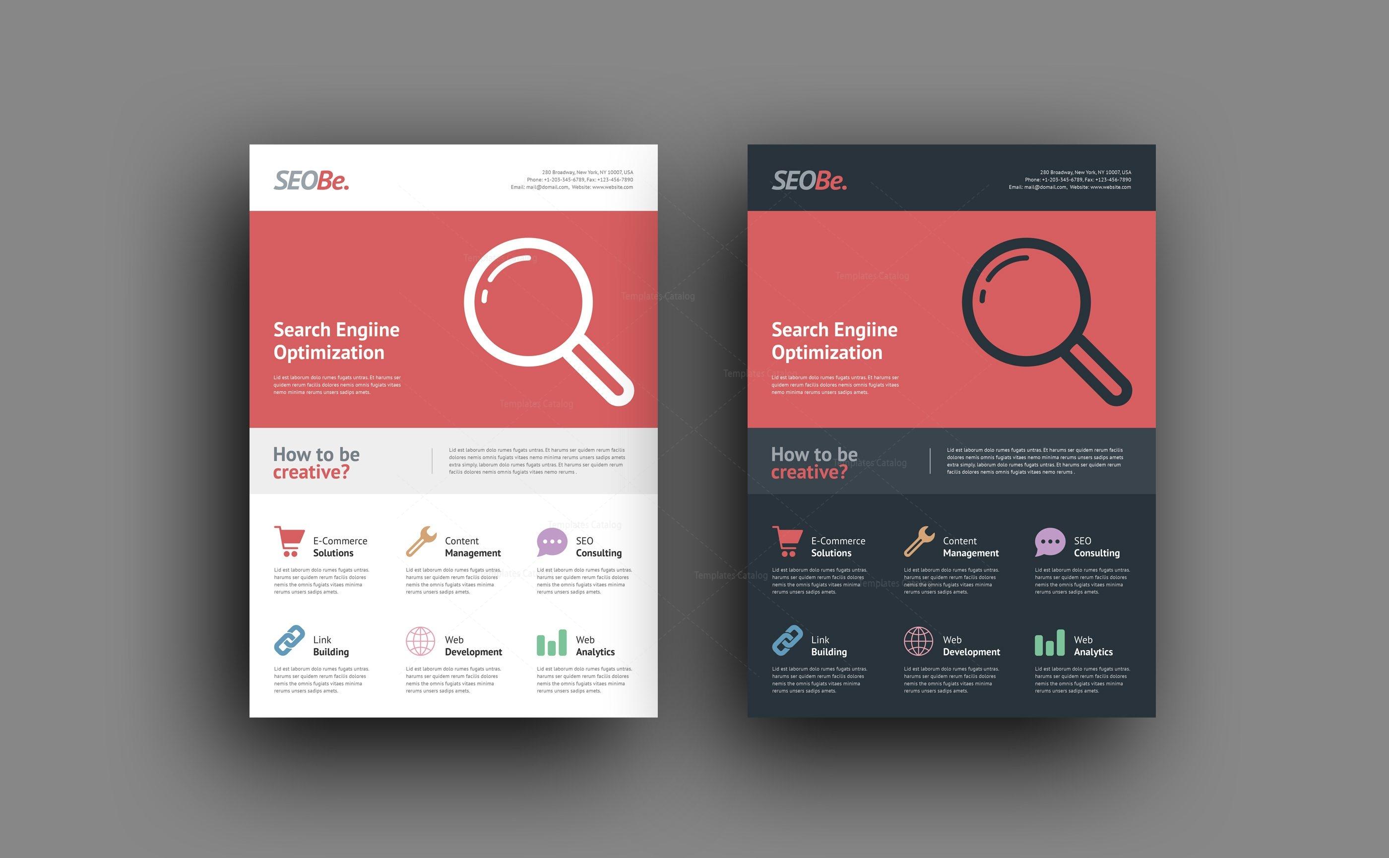 seo company flyer design templates 001504 template catalog
