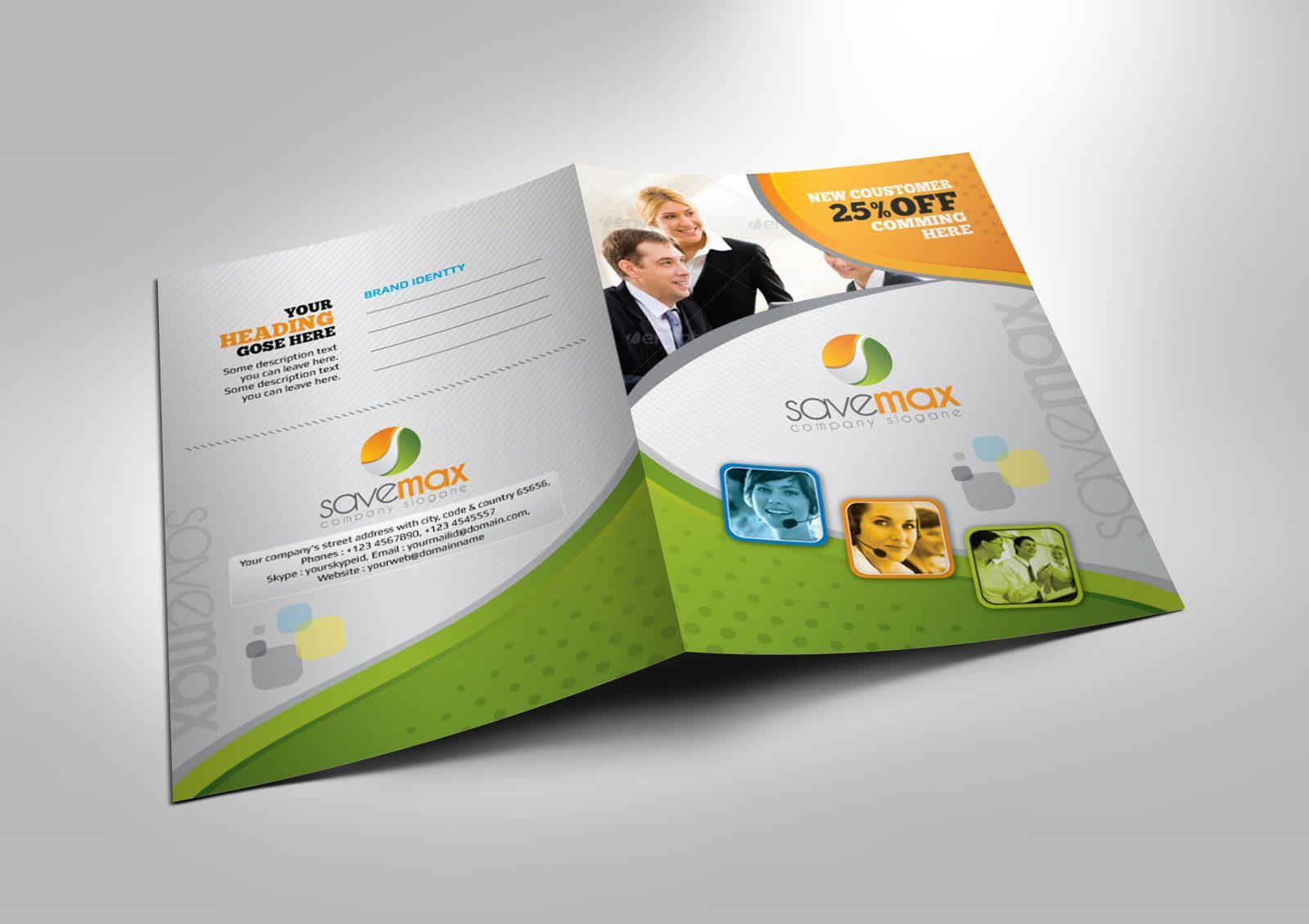 savemax corporate presentation folder design template. Black Bedroom Furniture Sets. Home Design Ideas