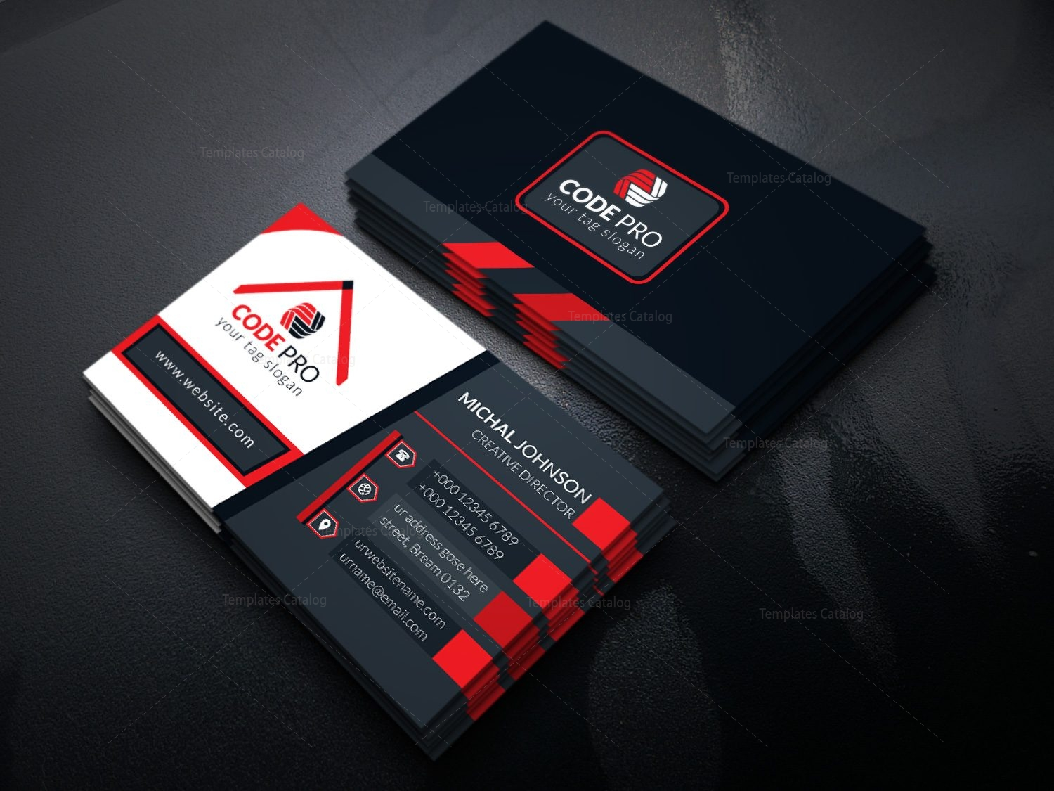 Sleek business card design template in eps format 001626 template sleek business card design template in eps format 2 wajeb Images