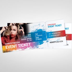 Sleek Event Ticket Design Template