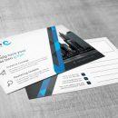 Stripe Professional Corporate Postcard Template 2