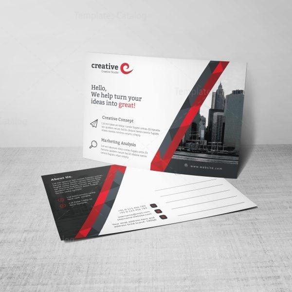 Stripe Professional Corporate Postcard Template 3