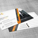 Stripe Professional Corporate Postcard Template 4