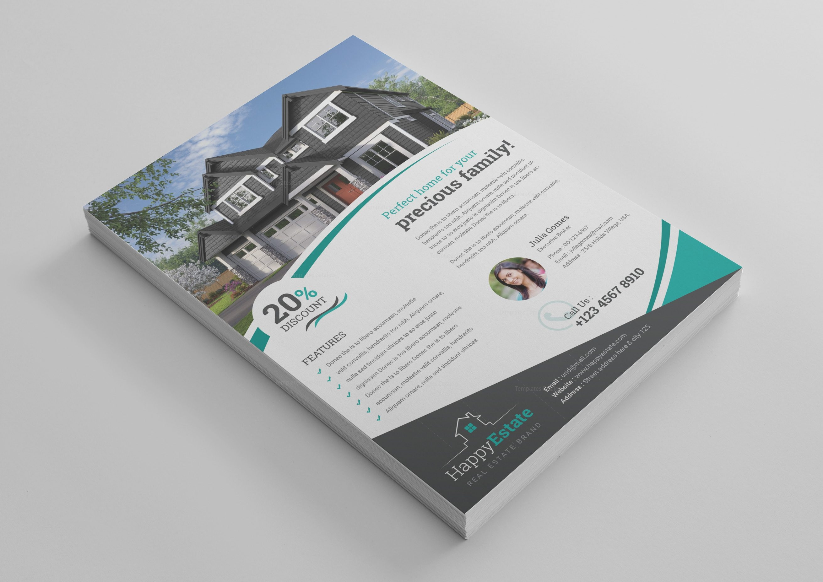 Stunning Real Estate Flyer Design Template 001518 Template Catalog