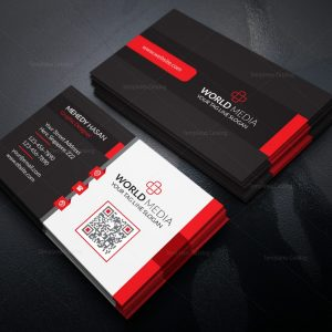 Stylish Business Card Design Template in EPS Format