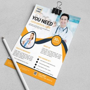 Stylish Medical Flyer Design Template