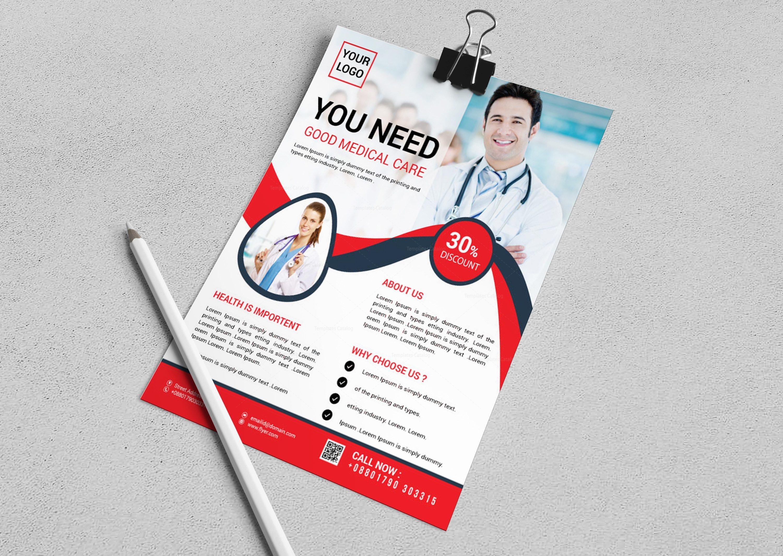 stylish medical flyer design template 3