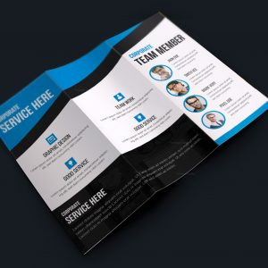 Texas Modern Creative Tri-fold Brochure Design
